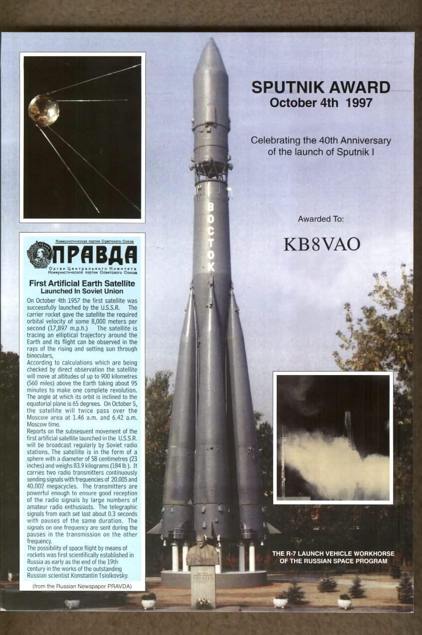 Raketa nosa� Vostok izbacila je Sputnjik u orbitu
