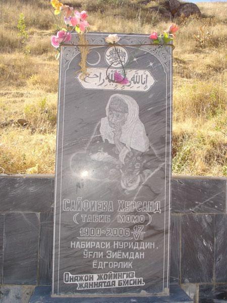 Памятник целительницы и долгожительницы кишлака Лянгар [Долгая Г.]