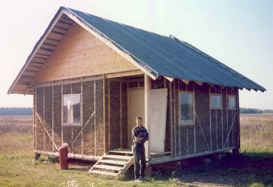 Дом своими руками из глины и соломы