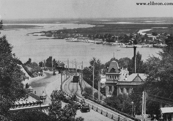 вид на Днепр с Александровского спуска, XIX век