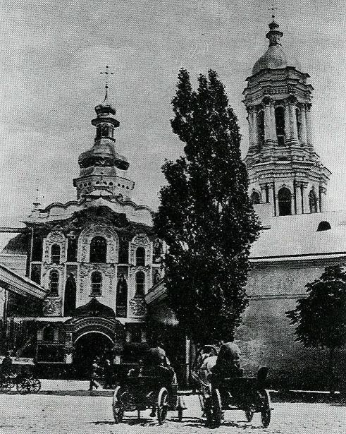 Колокольня Киево-Печерской лавры в XIX веке