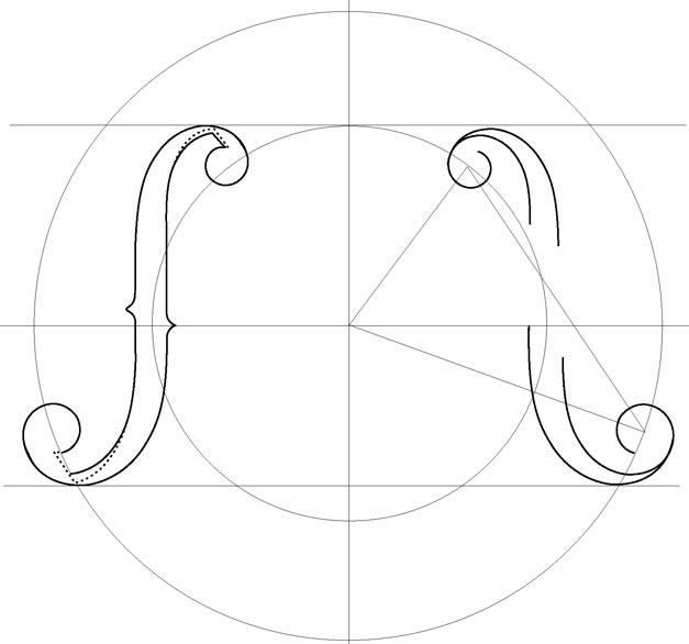 Muratov sergei the art of the violin design for Guitar f hole template