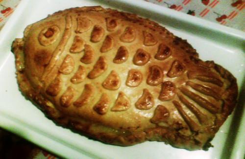 пирог с рыбой фото