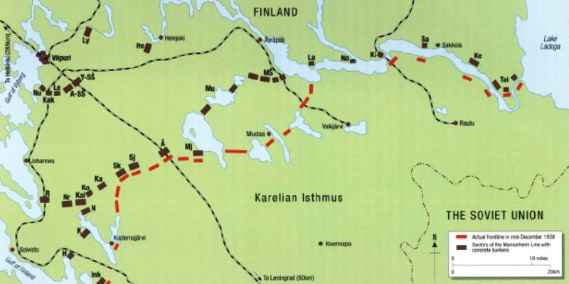линия Маннергейма, карта